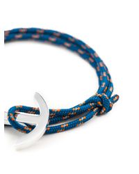 Miansai - Blue Anchor Detail Bracelet for Men - Lyst