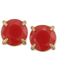 Carolee | Pink Gold-Tone Bold Stone Stud Earrings | Lyst