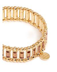 Philippe Audibert - Orange 'titia' Crystal Metal Bead Elastic Bracelet - Lyst