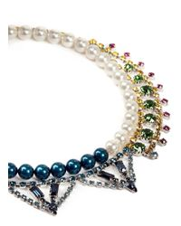 Joomi Lim - Multicolor Crystal Pearl Double Strand Necklace - Lyst