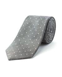 Racing Green Gray Boston Spot Design Tie for men