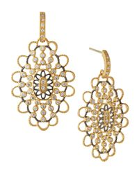 Freida Rothman | Metallic Scalloped Oval Drop Earrings | Lyst