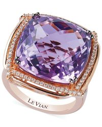 Le Vian | Pink Lavender Quartz (21-1/4 Ct. T.w.) And Diamond (5/8 Ct. T.w.) Ring In 14k Rose Gold | Lyst