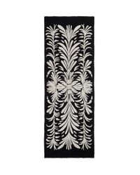 Tory Burch - Black Symphony Embroidered Scarf - Lyst