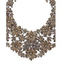 BCBGMAXAZRIA - Metallic Floral Statement Necklace - Lyst