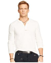 Polo Ralph Lauren - White Textured Henley Shirt for Men - Lyst