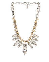 Joomi Lim | Multicolor Baroque Crystal Spike Necklace in Metallic Silver | Lyst