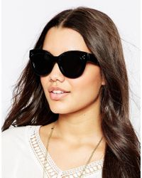 ToyShades | Black Ida Cat Eye Sunglasses | Lyst