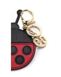 Tory Burch Kerrington Applique Ladybug Key Chain - Kir Royaleblack