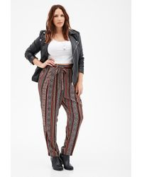 Forever 21 | Multicolor Plus Size Self-tie Southwestern Print Pants | Lyst
