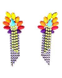 Tom Binns Multicolor Riri Fringed Earrings