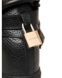 Buscemi Black Alta Leather Wedge High Top Sneakers