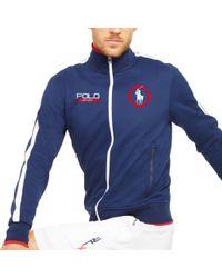 Pink Pony - Blue Cotton-blend Track Jacket for Men - Lyst