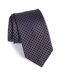 Brioni - Blue Geometric Print Silk Tie for Men - Lyst