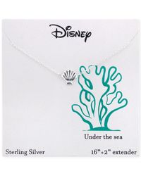 Disney | Metallic The Little Mermaid Seashell Pendant Necklace In Sterling Silver | Lyst