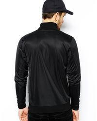 ASOS Black Track Top In Poly Tricot Jersey for men