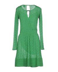 M Missoni - Green Short Dress - Lyst