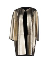 Blancha - Metallic Full-length Jacket - Lyst