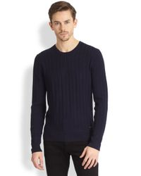 Burberry | Blue Lanhill Cableknit Wool Cashmere Sweater for Men | Lyst