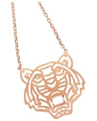 KENZO | Pink Tiger Rose Goldplated Cubic Zirconia Necklace | Lyst