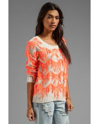 Tigerlily Orange Harshi Sweater