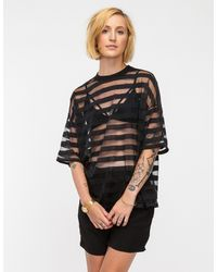Need Supply Co. - Sheer Stripe Top in Black - Lyst