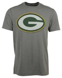 47 Brand Gray Men's Green Bay Packers Forward High Point T-shirt for men
