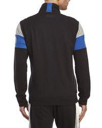 DKNY | Black Color Block Zip Front Sweatshirt for Men | Lyst