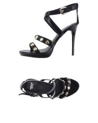 Versace Jeans - Black Sandals - Lyst