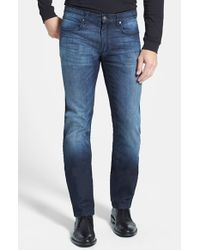 HUGO - Blue '708' Slim Fit Jeans for Men - Lyst
