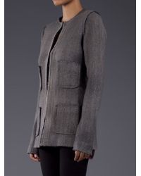 Avant Toi Black Banded Collar Jacket
