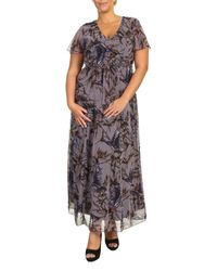 Threads Black Plus Size Angel Sleeve Maxi Dress