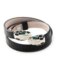 BVLGARI | Black Snake Wrap Bracelet for Men | Lyst