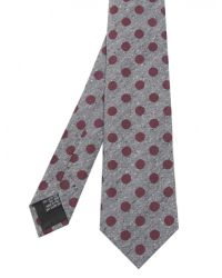 Jules B - Purple Silk Circle Print Tie for Men - Lyst