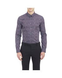 PS by Paul Smith - Pink Scribble-print Shirt for Men - Lyst