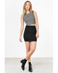Kimchi Blue Black Scallop Lace Mini Skirt