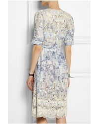 Zimmermann | White Confetti Embroidered Floral-Print Cotton Dress | Lyst