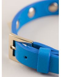 Valentino - Blue Studded Cuff - Lyst