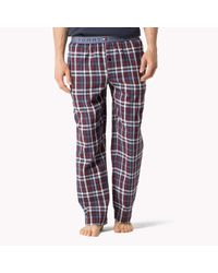 Tommy Hilfiger | Red Cotton Woven Trousers for Men | Lyst