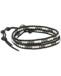 Chan Luu | 13' Nugget/natural Black Wrap Bracelet for Men | Lyst