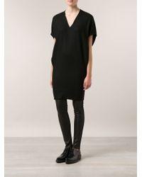Helmut Lang Black Shift Dress