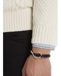 Miansai - Black Triple Wrap Hook Bracelet - Lyst