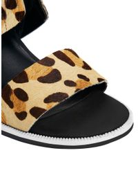 Senso Black Riley Iii Beige Leopard Print Heeled Sandals