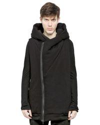 Julius Black Hooded Sleeveless Padded Sweatshirt for men