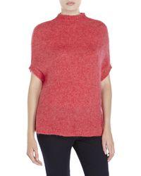 Hache - Pink Fuzzy Knit Dolman Sweater - Lyst