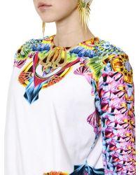 Manish Arora - White Printed Beaded Light Fleece Sweatshirt - Lyst
