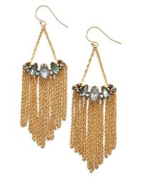 Alexis Bittar | Metallic Fringe Drop Earrings | Lyst