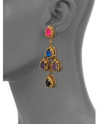 Erickson Beamon - Multicolor Velvet Underground Pear Crystal Chandelier Earrings - Lyst