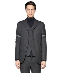 Z Zegna Gray Checked Wool Jacket for men