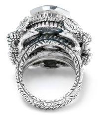 Stephen Dweck Metallic Large Silver Scarab Ring